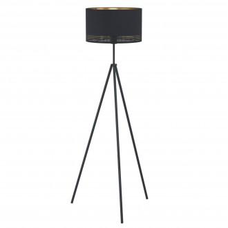 EGLO 99279 | Esteperra Eglo álló lámpa 140,5cm taposókapcsoló 1x E27 fekete, arany