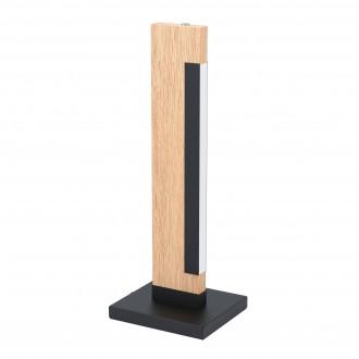 EGLO 99295 | Camacho Eglo asztali lámpa 40,5cm érintőkapcsoló 1x LED 800lm 3000K tölgy, fekete, fehér