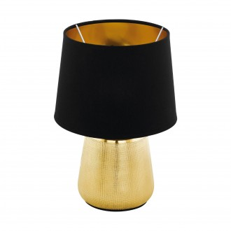 EGLO 99331 | Manalba-1 Eglo asztali lámpa 30cm vezeték kapcsoló 1x E14 arany, fekete