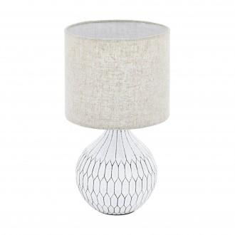 EGLO 99332 | Bellariva-3 Eglo asztali lámpa 36cm vezeték kapcsoló 1x E27 fehér, világosbarna