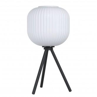EGLO 99369   Mantunalle Eglo asztali lámpa 40cm vezeték kapcsoló 1x E27 fekete, fehér