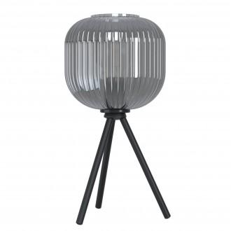 EGLO 99374   Mantunalle Eglo asztali lámpa 40cm vezeték kapcsoló 1x E27 fekete, füst