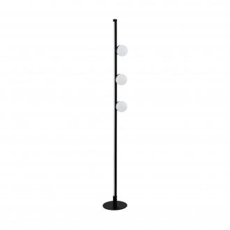 EGLO 99378 | Phianeros Eglo álló lámpa 140cm taposókapcsoló 1x LED 1390lm + 1x LED 389lm 3000K fekete, fehér