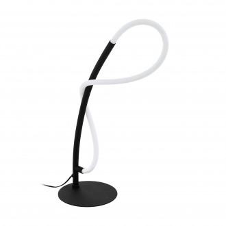 EGLO 99383 | Egidonella Eglo asztali lámpa 38cm vezeték kapcsoló 1x LED 700lm 3000K fekete, fehér