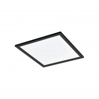 EGLO 99416 | EGLO-Connect-Salobrena Eglo álmennyezeti, mennyezeti, függeszték okos világítás négyzet távirányító szabályozható fényerő, állítható színhőmérséklet, színváltós 1x LED 2800lm 2700 <-> 6500K fekete, fehér