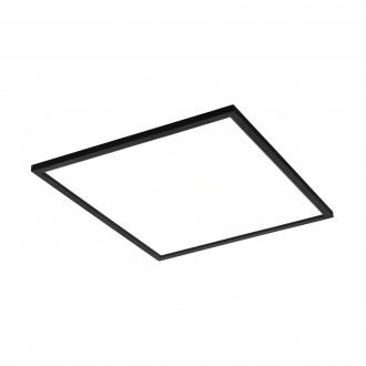 EGLO 99417 | EGLO-Connect-Salobrena Eglo álmennyezeti, mennyezeti, függeszték okos világítás négyzet távirányító szabályozható fényerő, állítható színhőmérséklet, színváltós 1x LED 4300lm 2700 <-> 6500K fekete, fehér