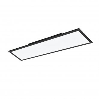 EGLO 99418 | EGLO-Connect-Salobrena Eglo álmennyezeti, mennyezeti, függeszték okos világítás téglalap távirányító szabályozható fényerő, állítható színhőmérséklet, színváltós 1x LED 4300lm 2700 <-> 6500K fekete, fehér
