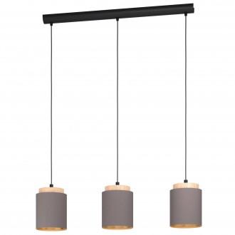 EGLO 99446   Albariza Eglo függeszték lámpa 3x E27 fekete, barna, kapucsínó