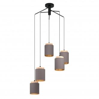 EGLO 99447   Albariza Eglo függeszték lámpa 5x E27 fekete, barna, kapucsínó
