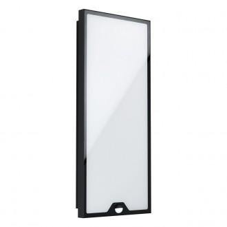 EGLO 99522 | Casazza Eglo fali, mennyezeti lámpa téglalap mozgásérzékelő 1x LED 2200lm 3000K IP44 fekete, fehér