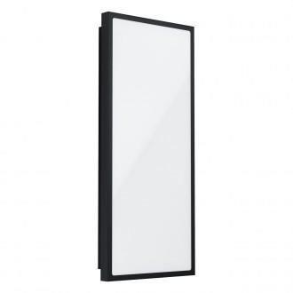 EGLO 99534 | Casazza Eglo fali, mennyezeti lámpa téglalap 1x LED 2200lm 3000K IP44 fekete, fehér