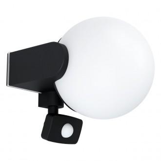 EGLO 99573 | Rubio Eglo fali lámpa mozgásérzékelő 1x E27 IP44 antracit, fehér