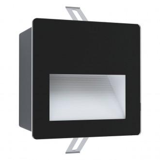 EGLO 99574 | Aracena Eglo beépíthető lámpa négyzet 1x LED 400lm 4000K IP65 fekete, fehér