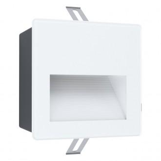 EGLO 99575 | Aracena Eglo beépíthető lámpa négyzet 1x LED 400lm 4000K IP65 fehér, fekete