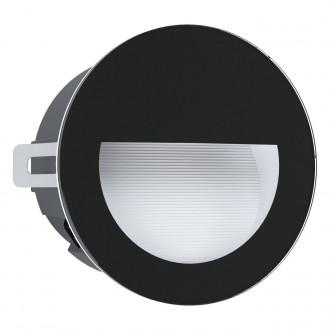 EGLO 99576 | Aracena Eglo beépíthető lámpa kerek Ø125mm 1x LED 320lm 4000K IP65 fekete, fehér