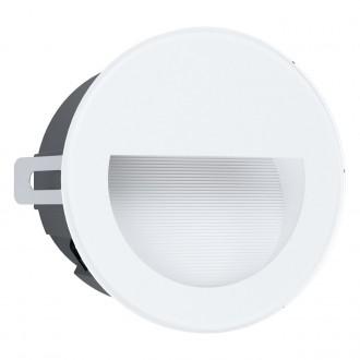 EGLO 99577 | Aracena Eglo beépíthető lámpa kerek Ø125mm 1x LED 320lm 4000K IP65 fehér, fekete