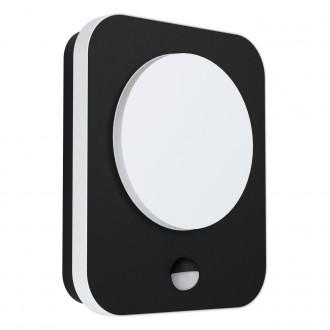 EGLO 99584 | Madriz Eglo fali lámpa téglalap mozgásérzékelő 1x LED 993lm 3000K IP44 fekete, fehér