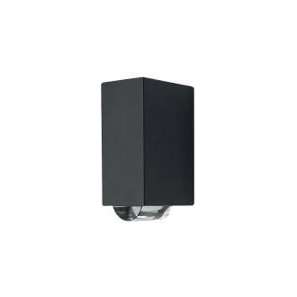 ELSTEAD AGNER 2W | Agner Elstead fali lámpa 1x LED 224lm IP54 grafit, átlátszó