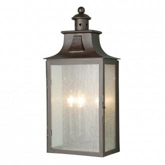 ELSTEAD BALMORAL | Balmoral-Kendal-Stow Elstead fali lámpa 3x E14 IP44 antikolt bronz, buborékos hatás