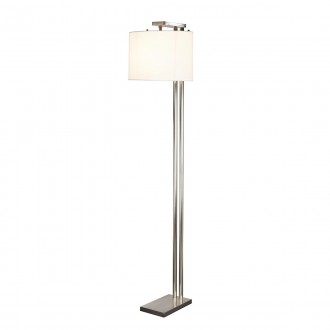 ELSTEAD BELMONT FL | Belmont Elstead álló lámpa 166cm kapcsoló 1x E27 szatén nikkel, fehér