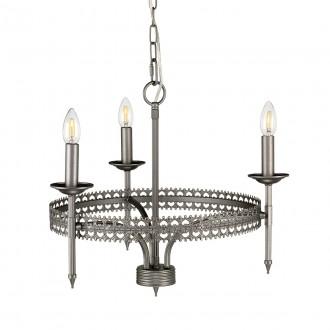 ELSTEAD CROWN3 | Crown-EL Elstead csillár lámpa 3x E14 antikolt vas