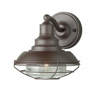 ELSTEAD EUSTON | Euston-EL Elstead falikar lámpa 1x E27 IP43 antikolt bronz, átlátszó