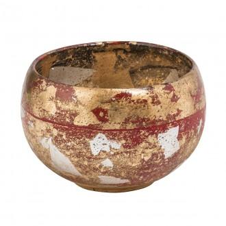 ELSTEAD FB/VERMILIONBOWL | Elstead kiegészítő tál. kézzel festett antikolt arany, piros