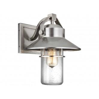 ELSTEAD FE/BOYNTON2/M | Boynton Elstead falikar lámpa tengerpartra tervezve, elforgatható alkatrészek 1x E27 IP44 UV csiszolt acél, buborékos hatás