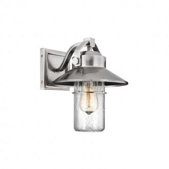 ELSTEAD FE-BOYNTON2-S   Boynton Elstead falikar lámpa tengerpartra tervezve, elforgatható alkatrészek 1x E27 IP44 UV csiszolt acél, buborékos hatás