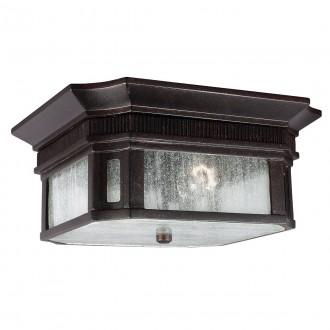 ELSTEAD FE/FEDERAL/F | Federal Elstead mennyezeti lámpa tengerpartra tervezve 2x E27 IP44 UV bronzbarna, buborékos hatás