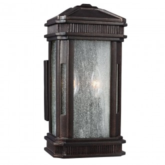 ELSTEAD FE/FEDERAL/S | Federal Elstead fali lámpa tengerpartra tervezve 2x E14 IP44 UV bronzbarna, buborékos hatás