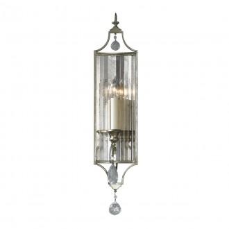 ELSTEAD FE/GIANNA1 | Gianna-EL Elstead falikar lámpa 1x E14 antikolt arany, átlátszó, antikolt tükör