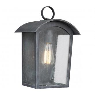 ELSTEAD FE/HODGES/S | Hodges Elstead fali lámpa tengerpartra tervezve 1x E27 IP44 UV antikolt vas, buborékos hatás