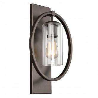 ELSTEAD FE/MARLENA1 ANBZ | Marlena Elstead falikar lámpa 1x E27 antikolt bronz, átlátszó