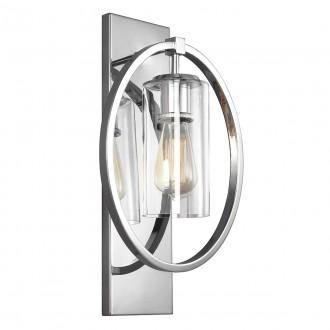 ELSTEAD FE/MARLENA1 CH | Marlena Elstead falikar lámpa 1x E27 szatén króm, átlátszó