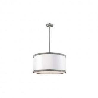 ELSTEAD FE/PAVE/P/M | Pave Elstead függeszték lámpa 3x E27 szatén nikkel, fehér