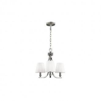 ELSTEAD FE/PAVE3 | Pave Elstead csillár lámpa 3x E14 szatén nikkel, fehér
