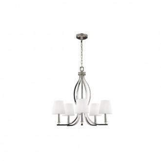 ELSTEAD FE/PAVE5 | Pave Elstead csillár lámpa 5x E14 szatén nikkel, fehér