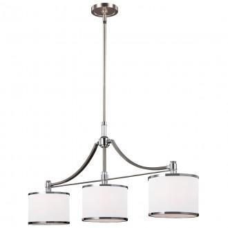 ELSTEAD FE-PROSPECT-PARK-3P | Prospect-Park Elstead függeszték lámpa állítható magasság 3x E27 szatén nikkel, króm, opál