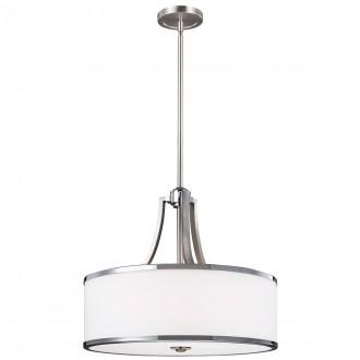 ELSTEAD FE-PROSPECT-PARK-4P | Prospect-Park Elstead függeszték lámpa állítható magasság 4x E27 szatén nikkel, króm, opál
