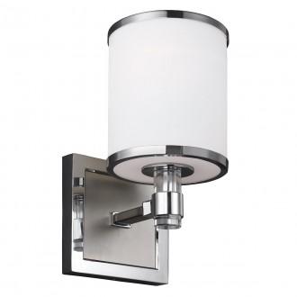 ELSTEAD FE-PROSPECT-PARK1 | Prospect-Park Elstead falikar lámpa 1x E27 szatén nikkel, króm, opál