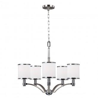 ELSTEAD FE-PROSPECT-PARK5   Prospect-Park Elstead csillár lámpa 5x E27 szatén nikkel, króm, opál