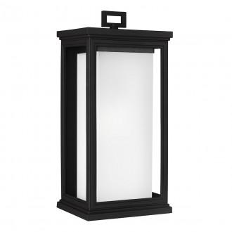 ELSTEAD FE/ROSCOE/L | Roscoe Elstead fali lámpa tengerpartra tervezve 1x E27 IP44 UV fekete, opál