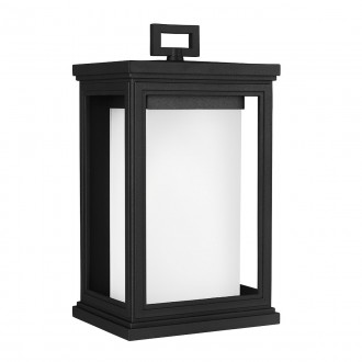 ELSTEAD FE/ROSCOE/M | Roscoe Elstead fali lámpa tengerpartra tervezve 1x E27 IP44 UV fekete, opál