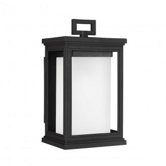 ELSTEAD FE/ROSCOE/S | Roscoe Elstead fali lámpa tengerpartra tervezve 1x E27 IP44 UV fekete, opál