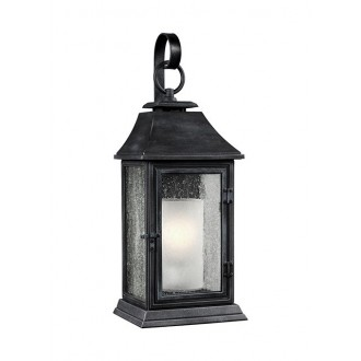 ELSTEAD FE/SHEPHERD/2L | Shepherd-EL Elstead falikar lámpa tengerpartra tervezve 1x E27 IP44 UV antikolt fekete, fehér, buborékos hatás