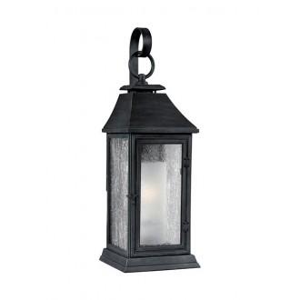 ELSTEAD FE/SHEPHERD/2M | Shepherd-EL Elstead falikar lámpa tengerpartra tervezve 1x E27 IP44 UV antikolt fekete, fehér, buborékos hatás