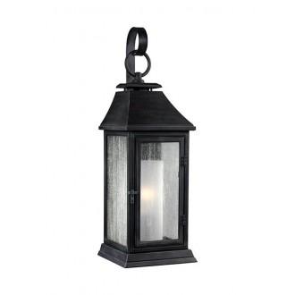 ELSTEAD FE/SHEPHERD/2S | Shepherd-EL Elstead falikar lámpa tengerpartra tervezve 1x E27 IP44 UV antikolt fekete, fehér, buborékos hatás