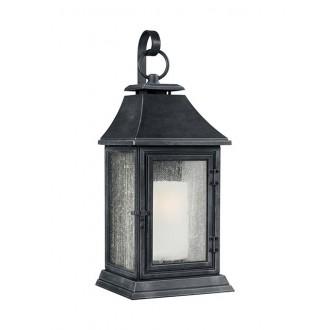 ELSTEAD FE/SHEPHERD/2XL | Shepherd-EL Elstead falikar lámpa tengerpartra tervezve 1x E27 IP44 UV antikolt fekete, fehér, buborékos hatás