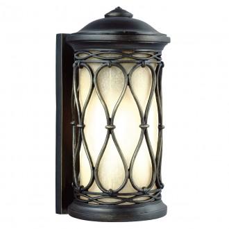 ELSTEAD FE/WELLFLEET/S | Wellfleet Elstead fali lámpa tengerpartra tervezve 1x E27 IP44 UV antikolt bronz, borostyán